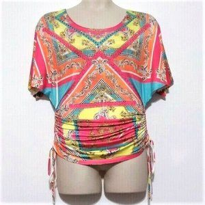 Other - Embellished Side Ruched Swimsuit Coverup